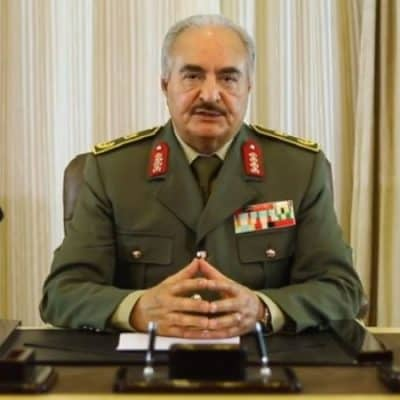 Khalifa Haftar commander in chief of the Libyan National Army