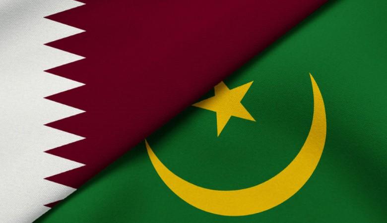 Flag of Qatar and Mauritania
