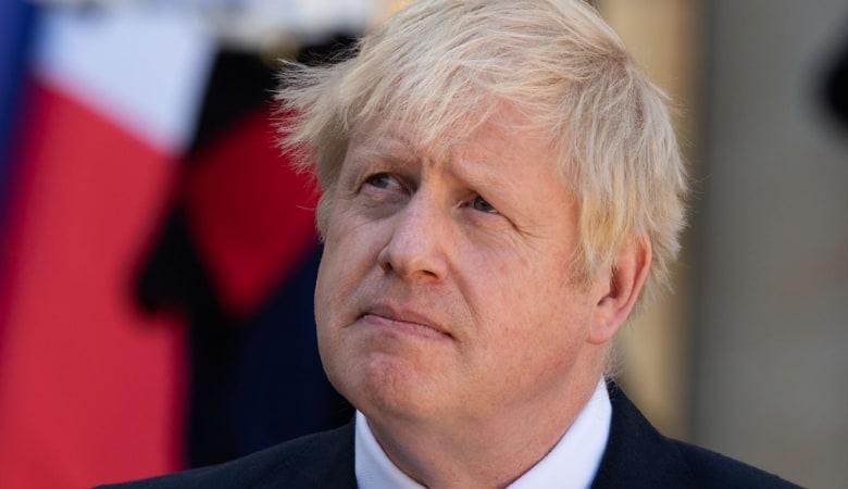 Prime Minister Boris Johnson in a Press conference