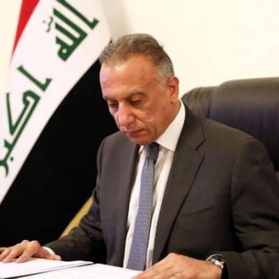 Mustafa al-Kadhimi in a conference