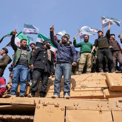 Syrians in protest
