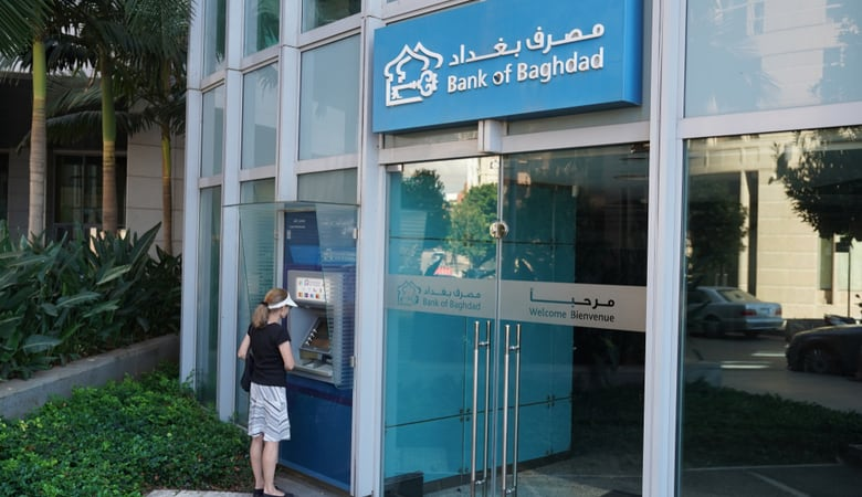 Bank of Baghdad ATM machine in Beirut