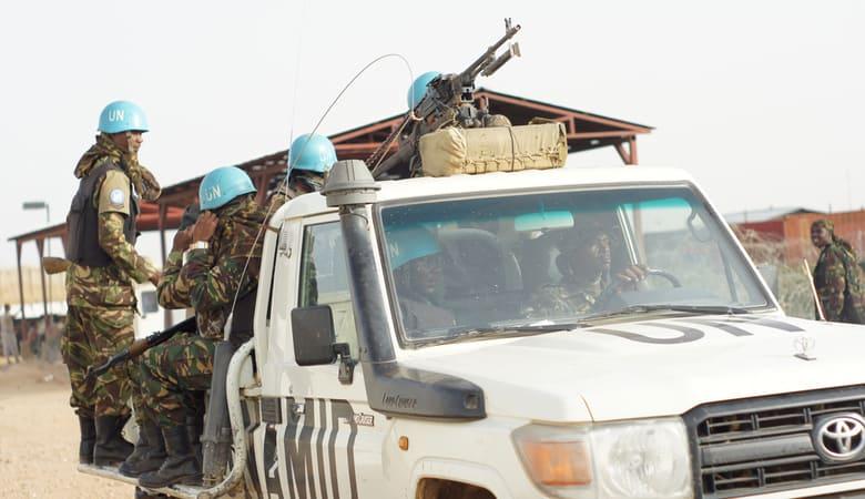 Unidentified Tanzania soldiers