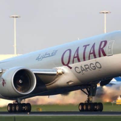 Boeing 777-FDZ A7-BFE of Qatar Airways Cargo