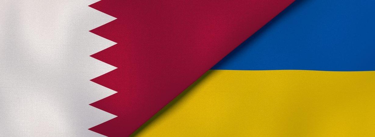 Qatar-Ukraine-Flag